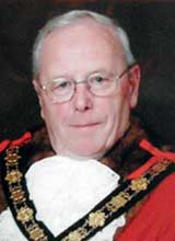 Picture of Cllr. A.H. Hitchman. Mayor of Llanelli 2008 - 09