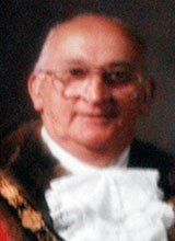 Picture of Cllr. D.J. Harries. Mayor of Llanelli 1986 - 87