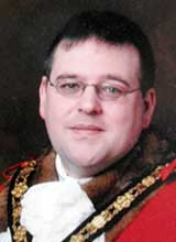 Picture of Cllr. J.P. Jenkins. Mayor of Llanelli 2009 - 10