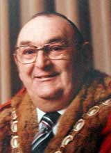 Picture of Cllr. L.R. Hickman. Mayor of Llanelli 1979 - 80