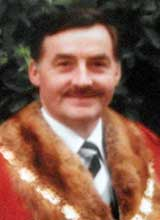 Picture of Cllr. M.W. Gimblett. Mayor of Llanelli 1982 - 83