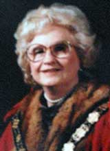 Picture of Cllr. Mrs. E. Clarke. Mayor of Llanelli 1981 - 82