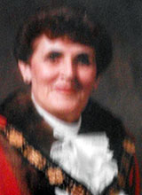 Picture of Cllr. Mrs. M.E. Prothero. Mayor of Llanelli 1990 - 91