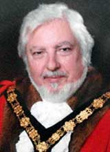 Picture of Cllr. R.T. Price. Mayor of Llanelli 2014 - 15