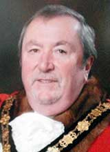 Picture of Cllr. W.J. Lemon. Mayor of Llanelli 2012 - 13